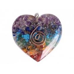 Orgoniet hartvormige hanger Chakra