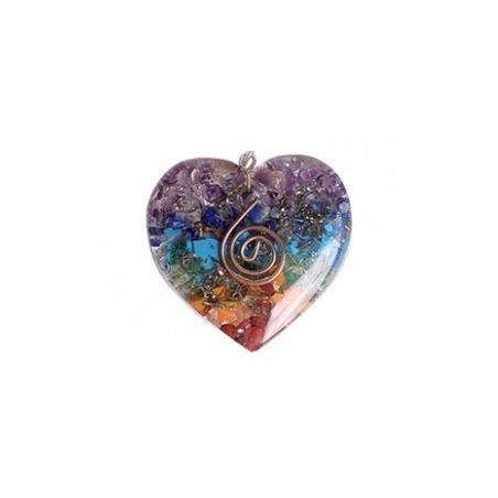 Orgonite heart-shaped pendant Chakra