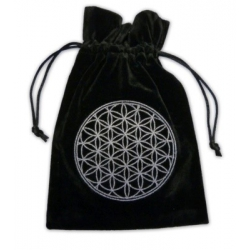 Tarotbuidel Flower of Life (wit)