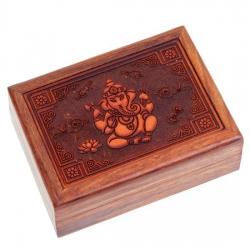 Tarotdoos Ganesha gegraveerd