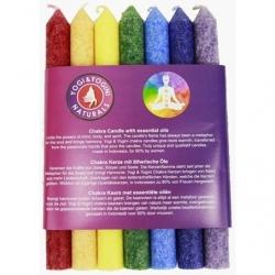 Chakra Geurkaarsen set 7 kaarsen