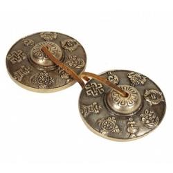 Tingsha's 8 voorspoedsymbolen (6.8 cm)