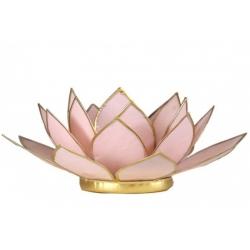 Lotus Kaarsenbrander - pastel roze