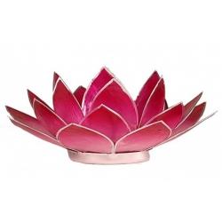 Lotus Kaarsenbrander - Roze (zilverkleurige randen)