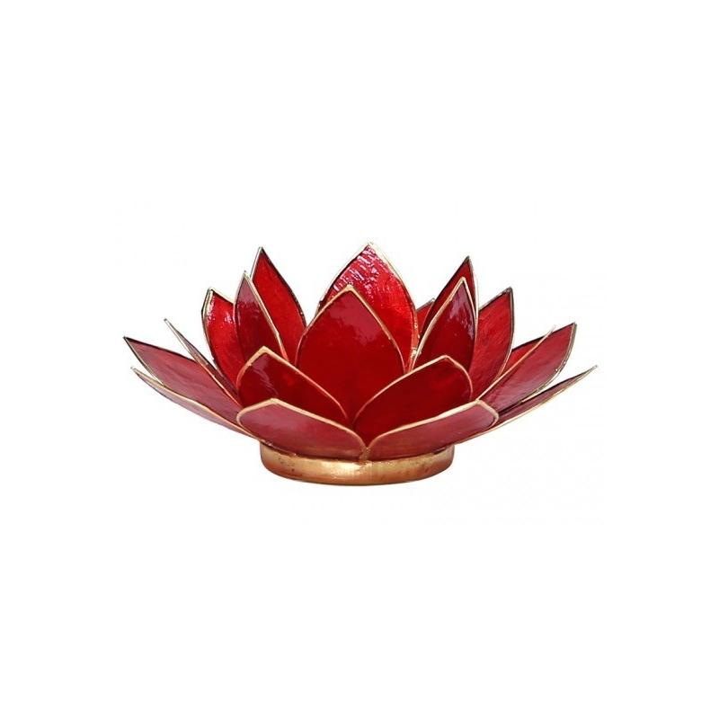 Lotus Kaarsenbrander - Robijn rood