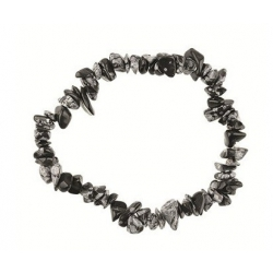 Edelsteen splitarmband - Sneeuwvlok obsidiaan