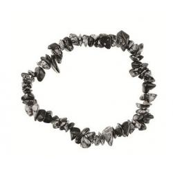 Sneeuwvlok obsidiaan edelsteen splitarmband