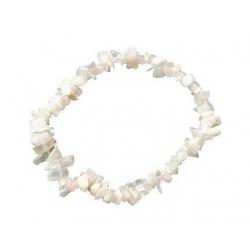 Maansteen (wit) - edelsteen splitarmband