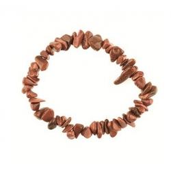 Edelsteen splitarmband (Goldfluss) Goudsteen