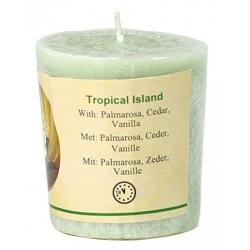 Votief geurkaarsje 'Tropical Island'