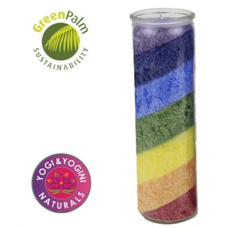 Rainbow candle odorless in glass (100 hours)