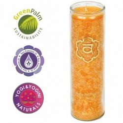 Chakra geurkaars in glas - 2de Chakra (Swadhisthana)