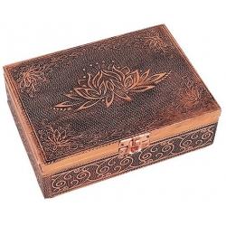 Tarot en sieradendoos - Lotus koperkleur