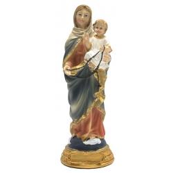 Maria met kind en rozenkrans (15 cm)