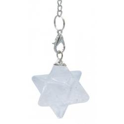 Merkaba pendel - Bergkristal
