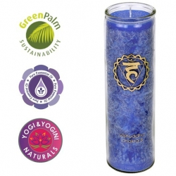 Chakra geurkaars in glas - 5de Chakra (Vishudda)