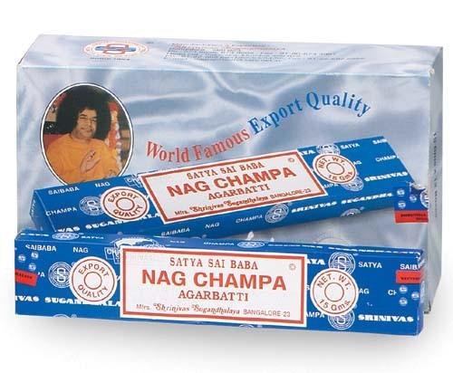 12 pakjes Originele Nag Champa wierook 15 gr (Satya)