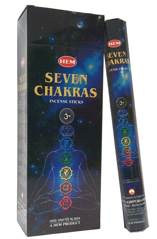 6 pakjes Seven Chakras wierook (HEM)