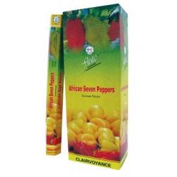 6 pakjes African seven peppers wierook (Flute)
