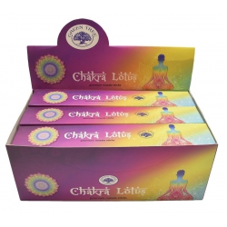 12 pakjes Chakra Lotus wierook (Green tree)