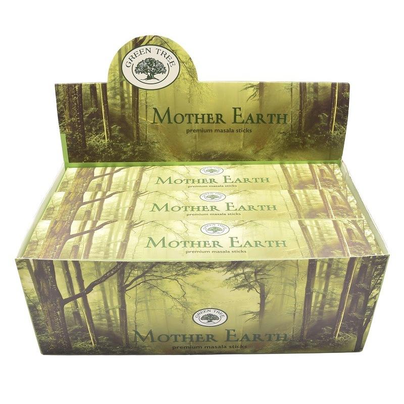 12 pakjes Mother Earth wierook (Green tree)