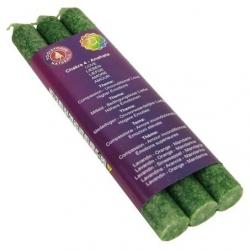 4e Chakra diner Geurkaarsen - Anahata - Chakra 4 (groen)