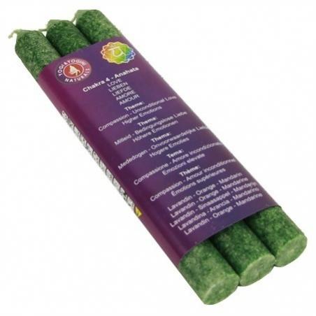 4th Chakra scented candles-Anahata-Chakra 4 (green)