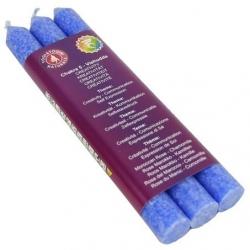 5e Chakra Geurkaarsen - Vishuddha - Chakra 5 (blauw)