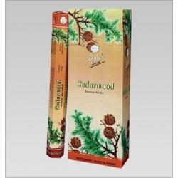 6 pakjes Cedarwood wierook (Flute)