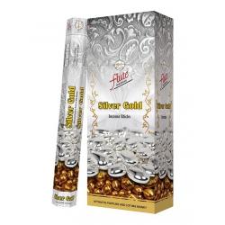 6 pakjes Silver Gold wierook (Flute)