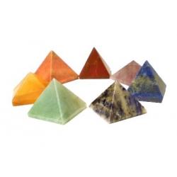 set 7 chakra piramide stenen (16575)