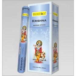 6 pakjes Heritage Krishna wierook (Flute)