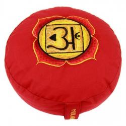 Meditatiekussen 1e chakra geborduurd (8101)
