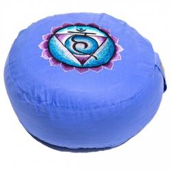 Meditatiekussen 5e chakra geborduurd (8105)