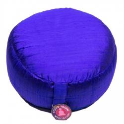 Meditatiekussen blauw ruwe zijde (8172)