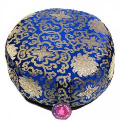 Meditatiekussen blauw lotus patroon (8194)