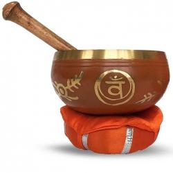 2e chakra Klankschaal met kussen & stick (12 cm)