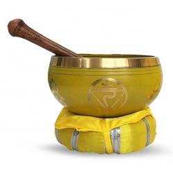 3e chakra Klankschaal met kussen & stick (12 cm)