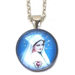 Heiligen halsketting - Heilige maagd Maria (Heilig hart)