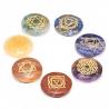 Set 7 Chakra symbolen mineraalstenen - rond (16438)