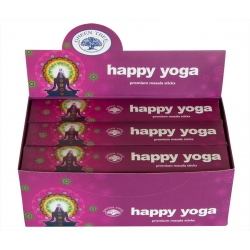 12 pakjes Happy yoga wierook (Green tree)
