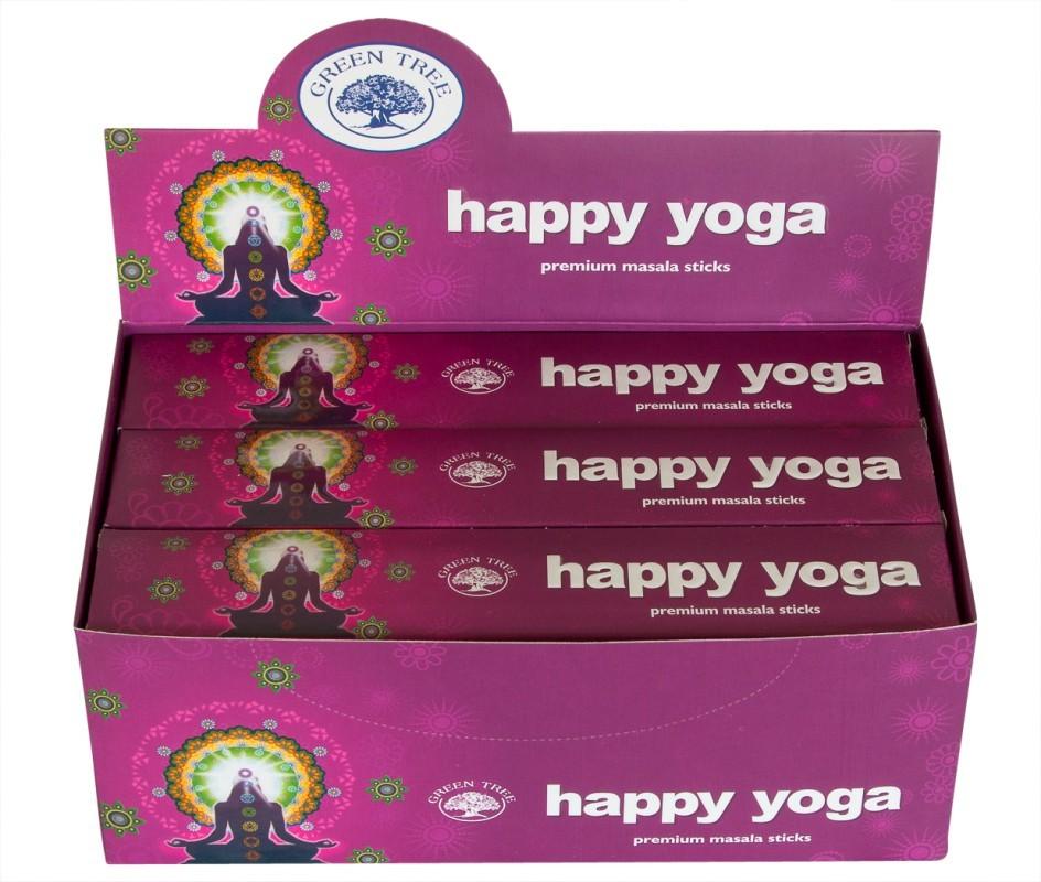 12 pakjes Happy yoga wierook (Green tree)
