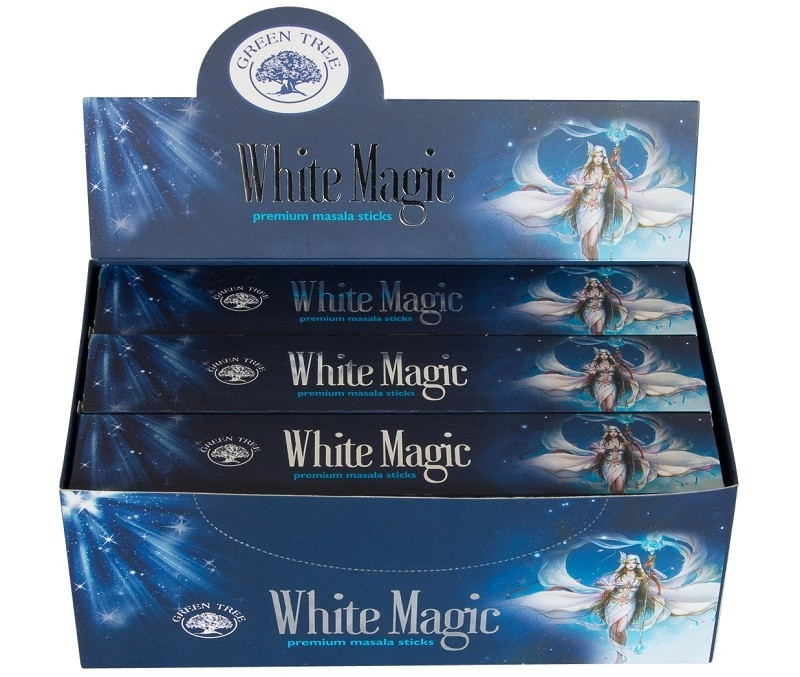 12 pakjes White Magic wierook (Green tree)