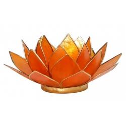 Lotus Kaarsenbrander - Amber oranje