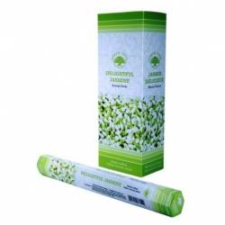 6 pakjes Delightful Jasmine wierook (Green Tree)