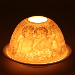 Atmospheric lighting porcelain Whispering Angels