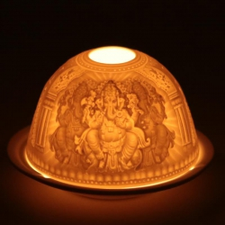Sfeerlicht theelichthouder Ganesha
