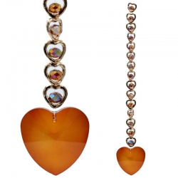 15 Harten Feng Shui Kristal Raamdecoratie - Oranje
