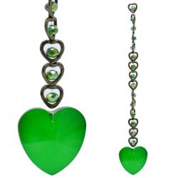 15 Harten Feng Shui Kristal Raamdecoratie - Groen