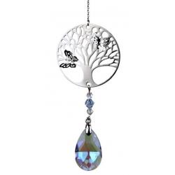Tree of Life met druppelvorm regenboogkristal violet